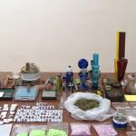 Наркотические средства и психотропные вещества, изъятые сотрудниками Азербайджанской таможни.
