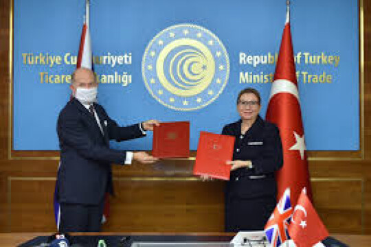 Turkey and the United Kingdom Sign Free Trade Agreement
